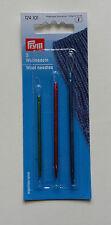 3 Wollnadeln 124101 PRYM mit flexibler Schlaufe zum leichten Einfädeln sticken