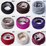 Velvet Men Women Winter Warm Infinity Cable Knitted Neck Cowl Collar Scarf Shawl