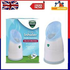 Portable Steam Inhaler 2 Scent VapoPads Vapour Therapy Cough Flu Cold Vicks