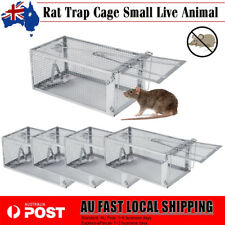 4x Rat Trap Cage Small Live Animal Pest Rodent Mouse Control Bait Catch Safety