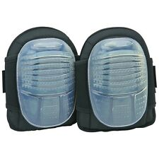 Rugged poly hard gel cap knee pads protect against rough surfaces