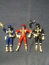 "Power Rangers 8"" Karate Action Lot 1994 Red Blue Black Bandai 95 Black Saban"
