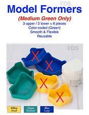 Dental Lab Model Formers  (Medium- Green) kit 3 upper & 3 lower