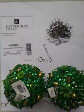 KATHERINE'S  COLLECTION Green Ornaments Set Of 2!! Cuckoo Jewel Ball ~Christmas