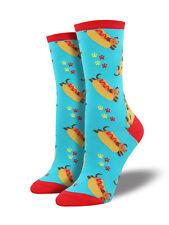 Dachshund Dog Socks - Wiener Hot Dog  SockSmith Cotton Womens One Size Fits Most
