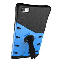 Shockproof Protection Hard Back Phone Case Cover with Stand for Huawei P8