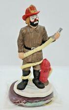 Emmett Kelly Jr Flambro Fireman Professional Series Clown Figurine Fire Dept