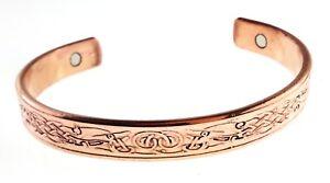 Magnetic Copper Bracelet For Men For Women; Celtic Pattern Design for Arthritis