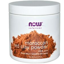 Now Foods, Solutions, Moroccan Red Clay, Facial Detox, Powder, 6 oz (170 g)