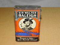 VINTAGE SIR WALTER RALEIGH PIPE & CIGARETTES SMOKING TOBACCO TIN *EMPTY***