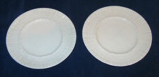 "2 Belleek Limpet 6"" Bread Plates with Black Mark"