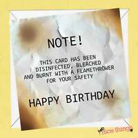 Disinfected Funny Birthday Card, Lockdown Card, Social Distance Birthday Cards