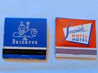 2 old Atlantic City New Jersey Hotel Match books, The Brighton and Seaside