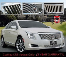 2013-2014 Cadillac XTS STAINLESS CHROME VERTICAL 2-PC E&G GRILLE 1001-0101-13
