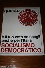 AN18=1972=PARTITO SOCIALISMO DEMOCRATICO=PUBBLICITA'=ADVERTISING=WERBUNG=