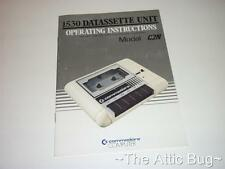Commodore 1530 Datasette Unità Operating Instructions ~ SOLO MANUALE ~ C64 / VIC