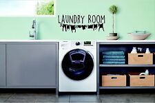 Laundry Room, Clothes Line, Utility Room, wall art vinyl decal sticker