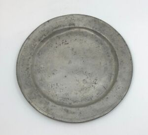EARLY PEWTER PLATE LONDON MARK PRE-1800'S 9 INCH Early American Colonial