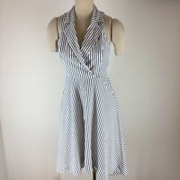Marled Reunited Clothing women's dress black white striped Size small Cotton