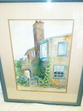 Maria de Mos Original Watercolor, New Jersey artist, framed/glazed