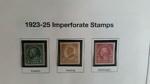 1923-5 Imperforate Stamps #575, #576, #577, MNH