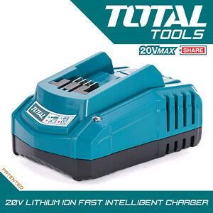 Total Tools Fast Intelligent EU Charger, 2Ah 4Ah Fits All Total Tools Batteries