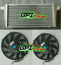 "Front Mount Intercooler 600 x 300 x 76mm Core Universal 3"" Inch In/Outlet &FAN"