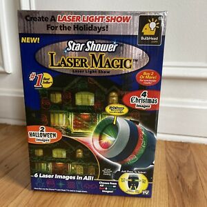 STAR SHOWER Laser Magic light show projector - 2 Halloween & 4  Christmas images