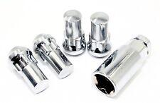 """4 Chrome Acorn Lug Nut Locks 14x1.5 1.75"""" SUV Silverado Avalanche Tundra"""