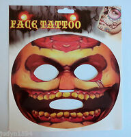 HALLOWEEN HORROR PARTY TEMPORARY FACE TATTOO CREEPY COSTUME ACCESSORY STICKER