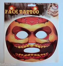 HALLOWEEN HORROR PARTY TEMPORARY FACE TATTOO CREEPY COSTUME ACCESSORY STICKER