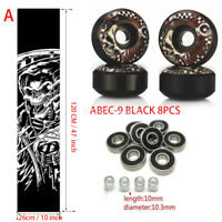 Sport Skateboard Grip Tape & UGIN 52mm wheels & abec-9 Bearings+Spacers set NEW