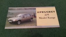 Modelo de octubre de 1984 1985 Peugeot 205 Inc Gti-UK pequeño folleto de carpeta