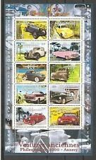 FRANCE 2000...SOUV. SHEET n° 30...OLD CARS ... VOITURES ANCIENNES
