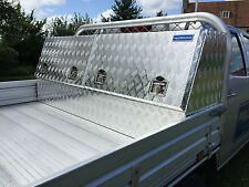 ALUMINIUM DOUBLE LID TOOL BOX CHEST VAULT FOR LORRYS TRAILER, CAMPING, FORESTRY