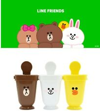 Line Friends Ice cream Bar Mold Maker 3Pcs