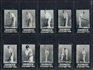 OGDENS (AUS TABS) - ENGLISH CRICKETER SERIES - FULL SET OF 14 CARDS (RARE)