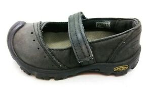 KEEN Libby Mary Jane Shoes 7665 Toddler Baby Size 5 Gray Black