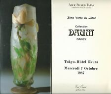 TAJAN Tokyo Collection DAUM NANCY Glass Auction Catalog 1987