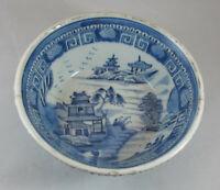 Ancien bol bleu blanc chinois chine 18ème siècle