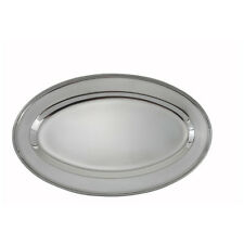 Winco Opl-12, 11.75x7.88-Inch Heavy Stainless Steel Oval Platter