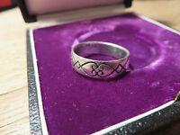 Toller 925 Silber Sterling Ring Unisex Designer Ring Tribal Muster Gothic Dark