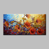 CHENPAT332 100%  hand-painted wall decor art sunflower oil painting on canvas