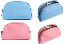 Vera Bradley Preppy Poly Small Cosmetic Bag Sky Blue Bloom Pink New