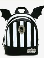 Beetlejuice Mini Backpack Bag Bat Winged Striped NEW