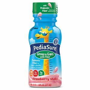 PediaSure Grow and Gain Kids Strawberry Nutritional Shake, 8oz - 24 Count