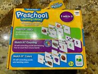 The Learning Journey Preschool ABCs Counting Shapes Colors MATCH IT Puzzle Cards