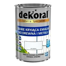 Dekoral Emakol Strong -  Alkyd enamel for wood and metal 10L white satin