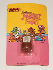 1984 Vintage STAMPOS Rubber Stamps Muppets Babies: Baby Fozzie Brown Large Card