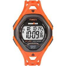 Orologio TIMEX IRONMAN 30-LAP TW5M10500 Digitale Silicone Arancione Chrono Timer